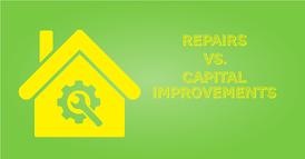 Repairs vs Capital Improvements