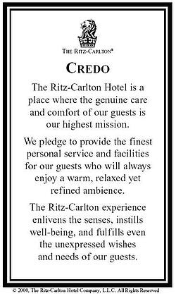 Ritz-Carlton Credo Card